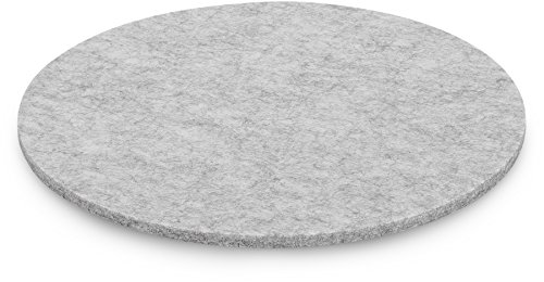 FILU Platzsets aus Filz (Farbe wählbar) 4 Stück Set (hellgrau, rund (35 cm Durchmesser))
