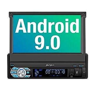PUMPKIN-Android-90-Autoradio-1-Din-Radio-mit-Navi-Untersttzt-Bluetooth-DAB-Android-Auto-WiFi-4G-USB-MicroSD-7-Zoll-Universal