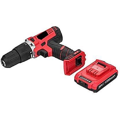 Acecoree-20V-Akku-BohrmaschineBohrschrauber-Driver-Bit-Set-mit-77pc-Projekt-Kit-31-x-9-x-27cm-Akku-Schlagbohrschrauber-fr-Engineering-und-Familie