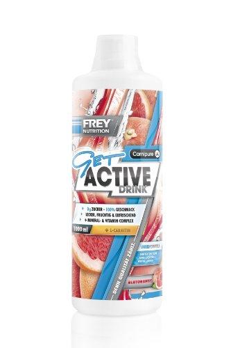 Frey Nutrition Get Active Drink – Blutorange, 1er Pack (1 x 1 kg)