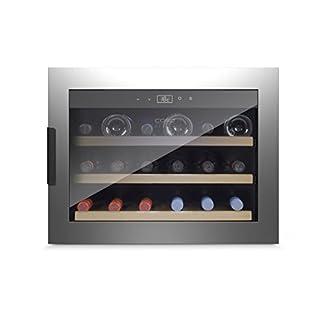 Caso-WineSafe-18-Inox-Black-Design-Einbau-Weinkhlschrank-mit-Kompressionstechnik-fr-bis-zu-18-Flaschen-bis-zu-310-mm-Hhe-eine-Temperaturzone-5-20C-Getrnkekhlschrank