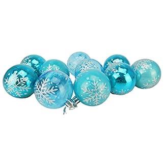Christmas-Concepts-10-60mm-Mini-Kugeln-Glnzendes-Perlen-und-transparentes-Schneeflockendesign-Weihnachtskugeln