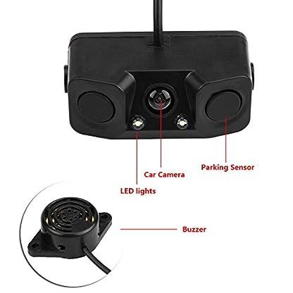 3-in-1-Auto-Visuelle-RckfahrkameraRckfahrkamera-mit-Backup-Einparkhilfe-ABS-Kunststoff-12-V-Schwarz