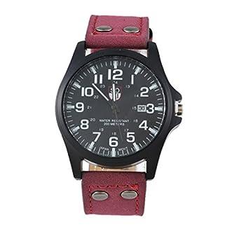 MJARTORIA-Herren-Analog-Quarzuhr-weinerot-PU-Leder-Armband-schwarz-Zifferblatt-Uhr-Mnner-Jungen-Armbanduhr-Geschenk