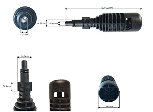 Adapter-1-Parkside-LIDL-PHD-100-A1-B2-C2-D2-E3-und-PHD-150-A1-B2-C2-D3-passend-auf-zB-Krcher-Zubehr-Abmessungen-siehe-Bilder