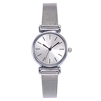 Lolamber-Armbanduhr-fr-Herren-Damen-Slim-Uhr-Armband-Mnner-Edelstahl-Geschfts-Klassisch-Analog-Quarz-Dnn-Armbanduhr-Gents-Luxus-Elegant-Silber-Uhr-mit-Wei-Zifferblat