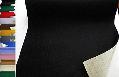 StoffBook EDEL BASTELFILZ FILZSTOFF SELBSTKLEBEND 50CM BREIT STOFF, B734 (schwarz)