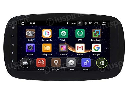 Android-71-GPS-USB-WLAN-Bluetooth-Autoradio-Navi-Smart-Fortwo-W453-2014-2015-2016-2017