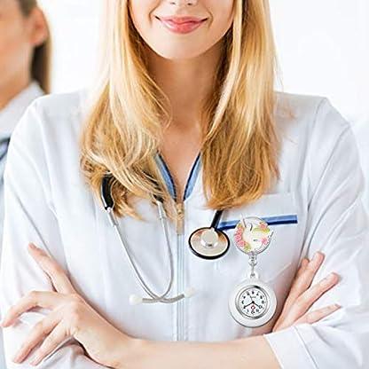 Krankenschwester-Uhr-Set-Dehnbare-Wei-Friedenstaube-Krankenschwesteruhr-Analog-digital-Schwesternuhren-Silikon-FOB-Ansteckuhr-Set-fr-Damen-Frauen