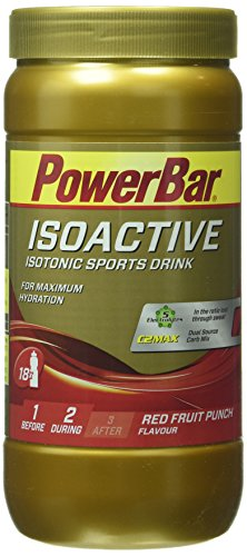 Powerbar Isoactive Red Fruit Punch – Isotonic Sports Drink, 1er Pack (1 x 600 g)