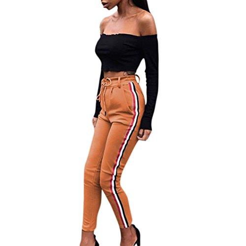 Ularma Damen Fitnesshose Übung Stretch Leggings aus Baumwolle Bleistift Skinny Hose