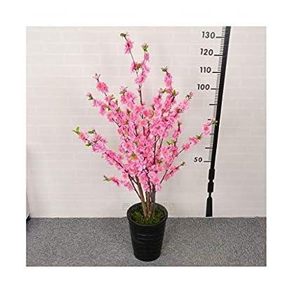 WOLJW-Dekoration-Blten-Baum-rosa-Simulations-Baum-Holz-Stmme-und-lebensechter-Kirschbaum-Baum-knstlicher-Blumen-Wohnzimmer-Boden