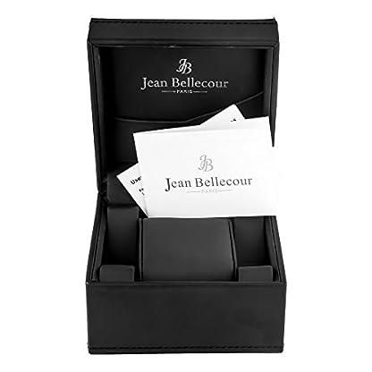 Jean-Bellecour–reds25-gb-Damen-Armbanduhr–Quarz-Analog–Zifferblatt-schwarz-Armband-Stahl-vergoldet-Gold