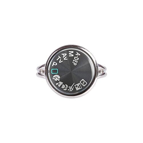 Mylery Ring mit Motiv Digital-Kamera DSLR Einstell-Rad Symbole silber verschiedene Größen