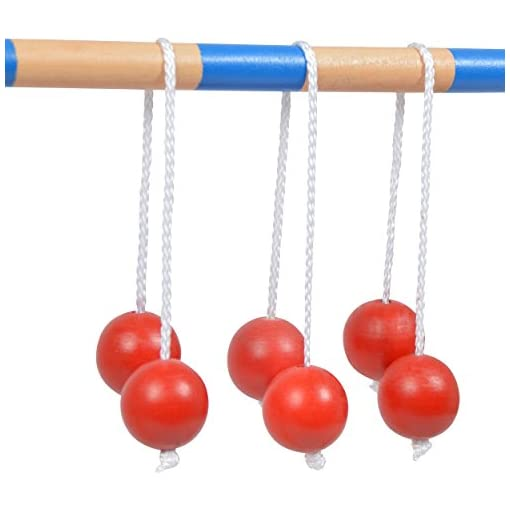Ocean-5-Leitergolf-mit-6-Doppelkugeln-Das-Wurfspiel-inkl-Bolas-Kultspiel-Laddergolf-Das-Geschicklichkeitsspiel-aus-Holz