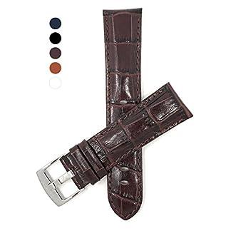 18mm-30mm-Auch-Verfgbar-In-Extra-Lang-XL-Leder-Uhrenarmband-Fr-Herren-Hochglanzoberflche-Alligatormuster-Wei-Schwarz-Braun-Knigsblau-Und-Hellbraun