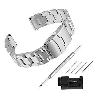 BEWISH-Uhrarmband-Edelstahl-Ersatzband-Solide-Metall-Uhr-Band-Riemen-Uhrenarmbnder-Smart-Watch-Strap-Band-Ersatz-Schmetterling-Faltschliee-Uhr-Armband-mit-Uhrmacherwerkzeug-Werkzeug-Set-Reparatur