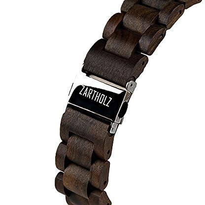 ZARTHOLZ-Herren-Damen-Unisex-Holzuhr-Holz-Armbanduhr-Klassik