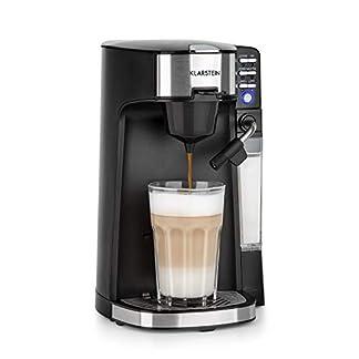 Klarstein-Baristomat-Heigetrnkeautomat-mit-integriertem-Milchaufschumer-2-in-1-Kaffee-Maschine-350-ml-Milchbehlter-zwei-Brhgruppen-fr-Kaffee-Tee-Cappuccino-Latte-Macchiato-schwarz