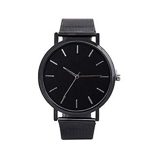 Lolamber-Armbanduhr-fr-Herren-Damen-Slim-Uhr-Armband-Mnner-Edelstahl-Geschfts-Klassisch-Analog-Quarz-Dnn-Armbanduhr-Gents-Luxus-Elegant-Schwarz-Uhr-mit-Schwarz-Zifferblat
