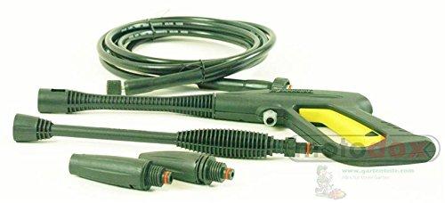 Spritz-Pistole-Set-Parkside-PHD-100-A-A1-B2-C2-D2-bestehend-aus-Pistole-Hochdruck-Schlauch-Hochdruckdse-Flachstrahldse