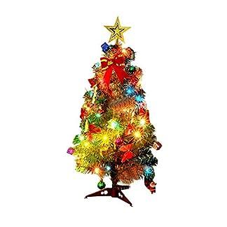 Neckip-LED-Weihnachtsbaum-knstlicher-Mini-Weihnachtsbaum-Baum-mit-LED-Batterie-Lichtern-und-23-Weihnachtsbaum-Verzierungen-vollkommene-Weihnachtsdekorations-Geschenke