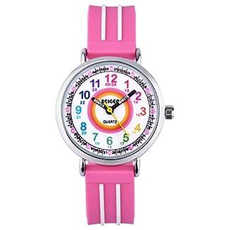 Zeiger-Kinder-Uhr-Anaglo-Quarzwerk-mit-Silikon-fur-Lern-Rosa-Easy-Read-KW110-ZEI