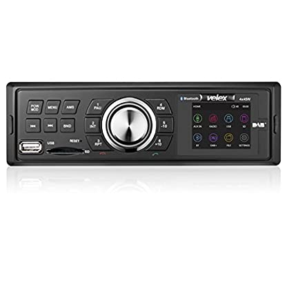 Velex-Autoradio-DAB-DAB-Autoradio-DIN-size-Bluetooth-AM-FM-Digital-Radio-RDS-4-x-45W