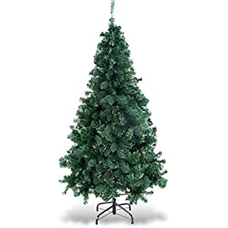 COSTWAY-Weihnachtsbaum-knstlicher-Tannenbaum-Christbaum-Kunstbaum-Dekobaum-mit-Metallstnder-150cm180cm210cm240cm-grn