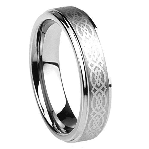 6MM Kleine Schätze – Edelstahl Ring Ehering / Trauring / Partnerring Keltischer Knoten Gravierte