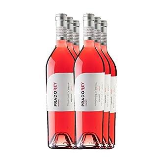 PRADOREY-Rosado-Ros-Wein-Spanischer-Wein-Ribera-del-Duero-50-Merlot-50-Tempranillo-Spontan-einsetzende-Grung-3-Monate-in-Fssern-aus-franzsischer-Eiche-6-Flaschen-075-L
