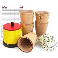 Ludomax-Schocken-Set-mit-Schockenbesteck-5-Wrfelbecher-Wrfel-und-Spielblock
