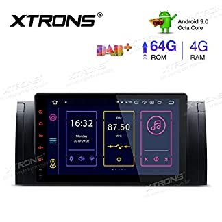 XTRONS-9-Android-90-4GB-RAM-64GB-ROM-Autoradio-mit-Touch-Screen-Octa-Core-Multimedia-Player-untersttzt-4G-WiFi-Bluetooth-DAB-OBD2-TPMS-Musik-Streaming-Plug-und-Play-FR-BMW-X5-E53