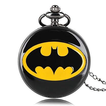 Batman-Quarzuhr-Taschenuhr-DC-Comics-Runde-Taschenuhren-Halskette-Geschenk-fr-Mnner-und-Frauen