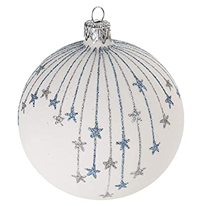 Multistore-2002-12-Stck-Weihnachtskugeln-6cm-2-Sorten-Wei-Glaskugeln-Weihnachtsbaumkugeln-Christbaumkugeln-Christbaumschmuck-Baumschmuck