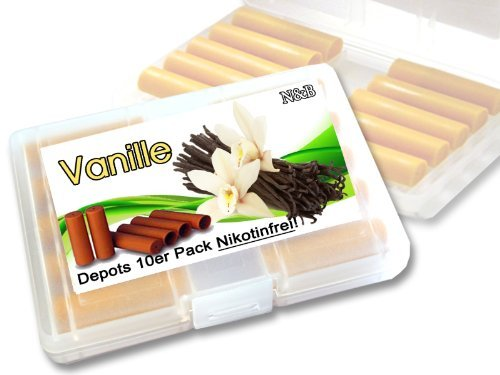 Depots ,,Vanille,, 10er Pack im Etui für E-Zigaretten ohne Nikotin