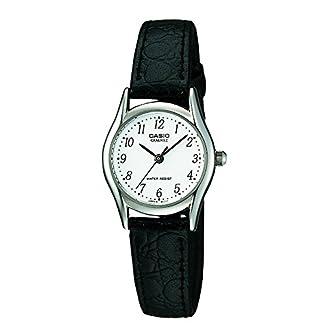 Casio-Damen-Analog-Quarz-mit-Leder-Armbanduhr-LTP1154PE7BEF