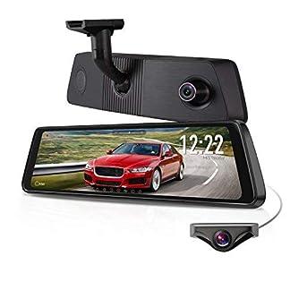 X1PRO-Streaming-Dashcam-mit-988-Touchscreen-Full-HD-1080P-Autokamera-vorne-und-hinten-720P-AHD-IP68-Wasserdichte-Rckfahrkamera-mit-Nachtsicht-WDR-LDWS-GPSAuto-Helligkeitseinstellung