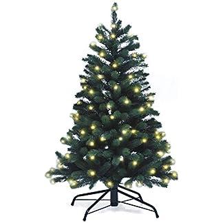 Lnartz-Naturgetreuer-knstlicher-Weihnachtsbaum-PE-Spritzguss-mit-Beleuchtung-118-LEDs-55W-Hhe-120cm-95cm-PE-BM120