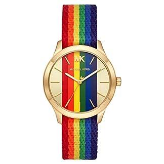 Michael-Kors-Damen-Analog-Quarz-Uhr-mit-Nylon-Armband-MK2836