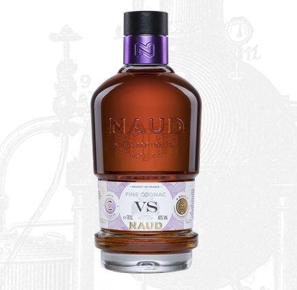 Fine-Cognac-Neuheit-3-Jahre-in-Eichenfssern-gereift-Sonderedition-NAUD-VS-im-Geschenkset-mit-2-geschliffenen-Tumblern-Geburstag-Weihnachten-Vater-Vintage