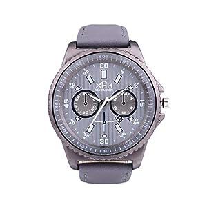 Armbanduhr-Men-Liusdh-Uhren-Einfache-Alloy-Quarz-Multi-Dial-Lupe-Glas-Zifferblatt-gestreiften-Print-Leaderband-Business-Watch