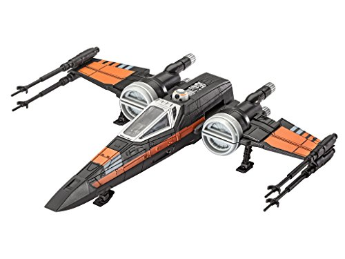 Revell-Modellbausatz-Star-Wars-Poes-X-wing-Fighter-im-Mastab-178-Level-1-originalgetreue-Nachbildung-mit-vielen-Details-Build-Play-mit-LightSound-zum-Bauen-Spielen-06750