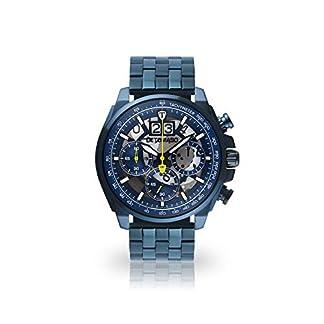 DETOMASO-LIVELLO-Herren-Armbanduhr-Chronograph-Analog-Quarz-dunkelblaues-Edelstahl-Gehuse-blaues-Zifferblatt-mit-5-Jahre-Herstellergarantie