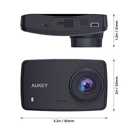 AUKEY-Dashcam-Full-HD-1080P-Autokamera-Video-Recorder-mit-140-Weitwinkelobjektiv-WDR-Bewegungserkennung-Loop-Aufnahme-Nachtsicht-und-G-Sensor