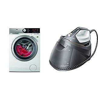 AEG-L8FE74485-WaschmaschineProSteam-AuffrischfunktionKOMix-Faserschutz-ST8-1-8EGM-Dampfbgelstation-Touchscreen-4-Bgelprogramme-mit-Outdoor-Technologie-12-l-Wassertank-grau