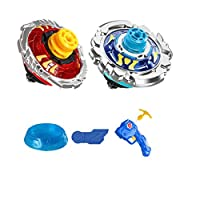 MAJOZ-2-Stck-Kampfkreisel-Set-4D-Kampfkreisel-kreisel-Launcher-fr-Kinder-Spielzeug-Masters-Beschleunigungslauncher-Speed-Kreisel-mit-Arena-Ideal-fr-Kindertag-Halloween-Weihnachten