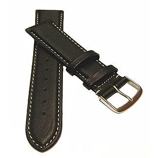 22-mm-Uhrenarmband-XL-berlnge-Kalbsleder-mit-weier-Naht-schwarz-Uhrenband-Uhren-Leder-Armband