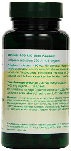Bios Arginin 400 mg, 100 Kapseln, 1er Pack (1 x 49 g)
