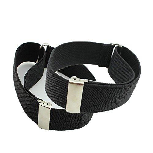 HBF 1 Paar Hemd Ärmelhalter unisex elastisch verstellbar Hülsenhalter Armband Hochzeit Festival Strumpfbandhalter Ärmelband